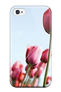 Dana Diedrich Wallace's Shop Hot 1625418K70598611 Hard Plastic Iphone 4/4s Case Back Cover,hot Tulips Rising Case At Perfect Diy