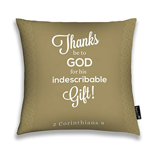 Randell Throw Pillow Covers Thanks Be to God His Indescribable Gift Home Decorative Throw Pillowcases Couch Cases 22