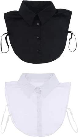 FITYLE Pack of 2 Women False Faux Half Shirt Blouse Fake Detachable Collar Necklaces