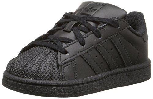 Image of adidas Originals Superstar I Basketball Fashion Sneaker (Infant/Toddler),Black/Black/Black,6 M US Toddler