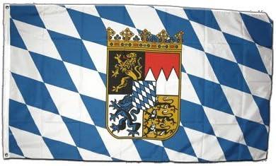 Bandera de Alemania Baviera con Escudo XXL 150 x 250 cm: Amazon.es: Deportes y aire libre