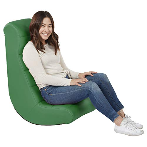 - Soft Ergonomic Horizontal Soft Video Rocker - Great for Reading, Gaming, Meditating, or TV for Kids Teens and Adults - Green