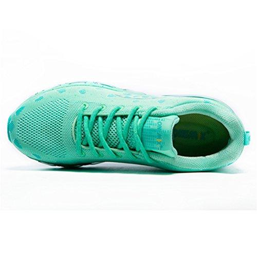 Yidiar Womens Flexibele Luchtkussen Loopschoenen Sport Sneakers Lichtgroen