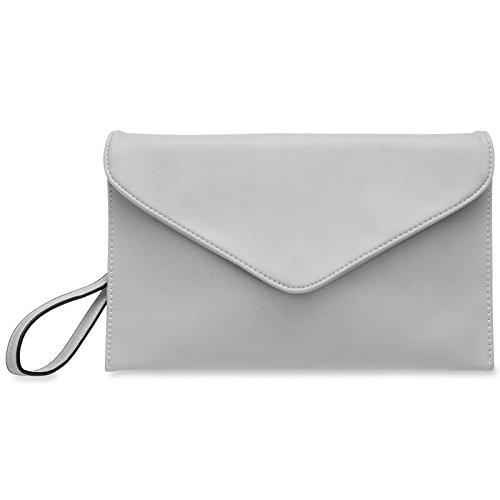 TA310 Clutch Women Light CASPAR Envelope Grey aFwq0aUd