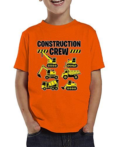 - SpiritForged Apparel Construction Crew Toddler T-Shirt, Orange 4T