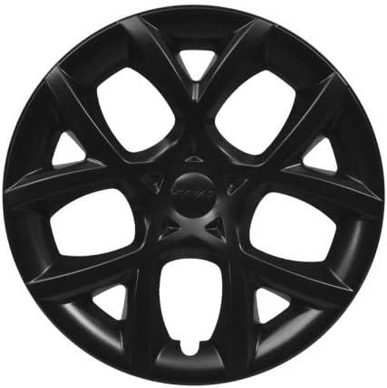 Nero Opaco, Cerchio 14 Farad Kit 4PZ Copricerchi Universali