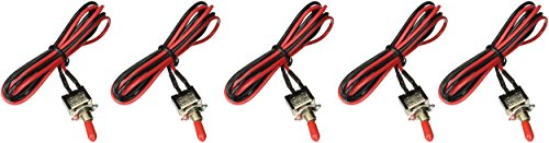 Install Bay Toggle Switch Mini with 20 Inch Leads On and Off 5 Bag- IBMTS