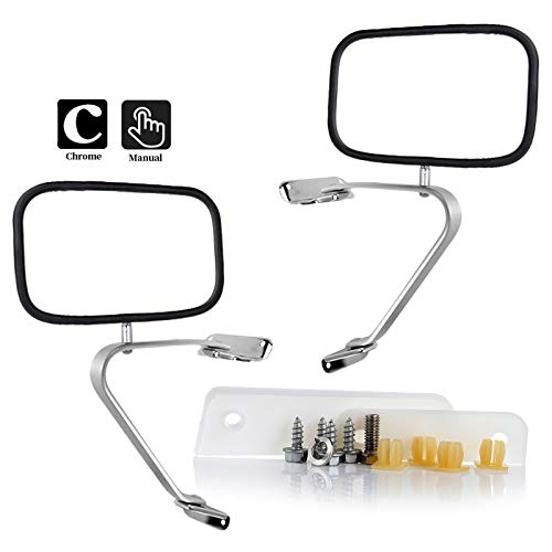 Aintier Towing Mirrors Compatible with 80-96 Ford F150 F250 F350 F450 Ranger Bronco Explorer Truck Pickup Rear View Mirrors with Left Driver Side/Right Passenger Side