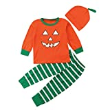 Halloween Family Outfits Set Toddler Baby Boys Girls Long Sleeves Tops Blouse+Striped Pants Pajamas...