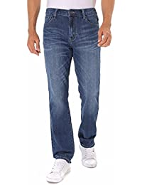 Stretch Straight Fit Men's Lightweight Jeans (8014-15)