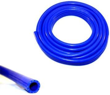 Innovo - Tubo de radiador semirrígido Reforzado de Silicona, 25 mm de Diámetro x 500 mm, 3 Capas, Color Azul