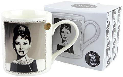 Audrey Hepburn Leonardo Tasse aus feinem Porzellan mit Promi Motiv in Geschenksverpackung Idol Pop
