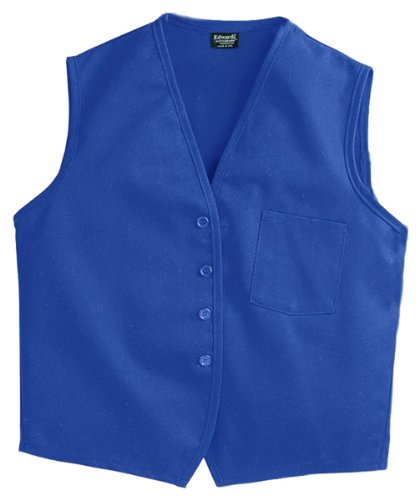 Ed Garments Cotton Twill Matching Button Apron Vest, ROYAL, X-Large by Edwards Garment (Image #1)