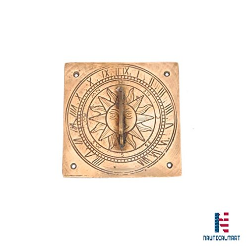 Vintage Brass Sundal, Brass Sun Garden Sundial, Solid Brass Sundial, Sun Clock, Brass Clock, Garden Decor, Garden Clock, Garden Compass by NAUTICALMART