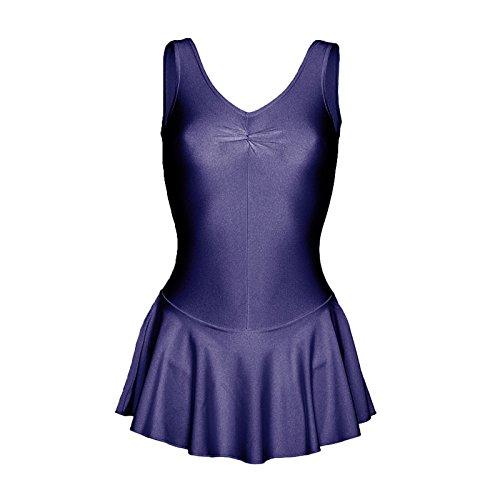 Starlite–Falda de nailon y licra para baile azul marino