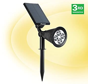 humabuilt solar powered led garden spotlight outdoor spot light great for landscaping walkways