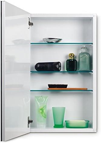 Jensen 52WH244PX Bevel Mirror Medicine Cabinet, 15 x 25