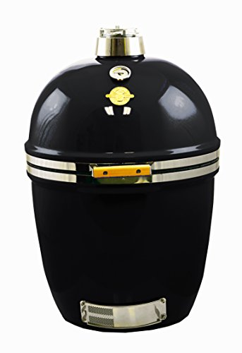 Grill Dome Infinity Series Ceramic Kamado Charcoal Smoker Grill, Black, Large by Grill Dome
