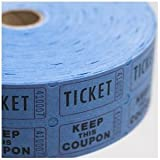 50/50 Double Raflle Tickets - Blue - 2000 Tickets