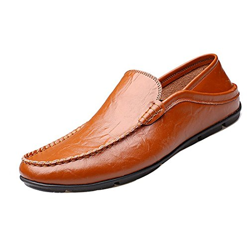 Gaorui Men Casual Synthetic Leather Boat Shoes Business Dress Formal Leather Shoes Flat Oxfords Loafers Slip On by Gaorui