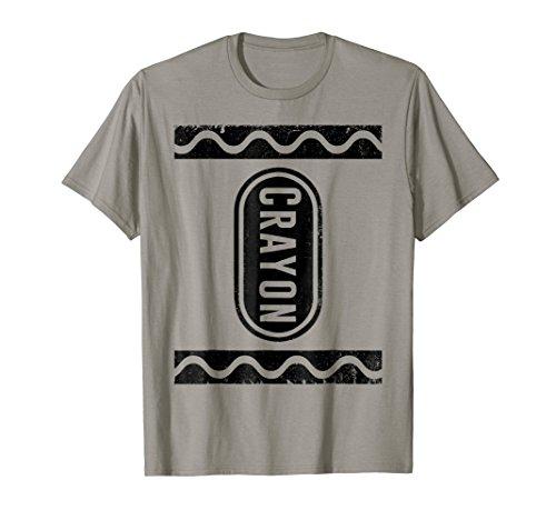 Gray Slate Crayon Box Group Costume Halloween T-Shirt -