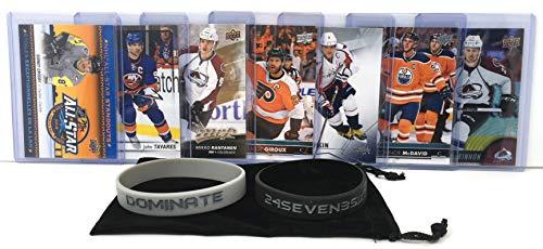 Hockey Cards: Sidney Crosby, John Tavares, Mikko Rantanen, Claude Giroux, Alex Ovechkin, Connor McDavid, Nathan MacKinnon NHL Superstars (7) Card Gift Pack