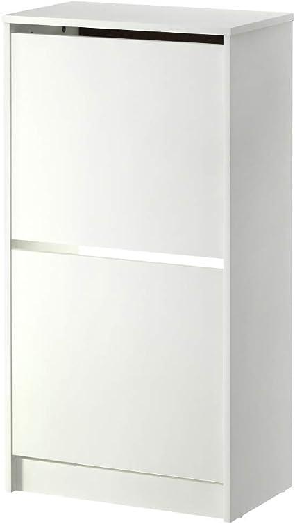 IKEA ASIA BISSA - Zapatero con 2 compartimentos, color blanco ...