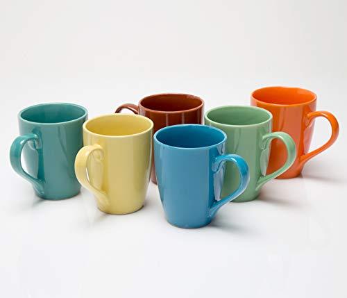 Bench Mark Ceramic Coffee/Milk Mug – 6 Pieces, Multicolour, 280 ml Price & Reviews