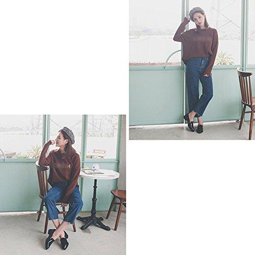 LIANGJUN Women's Shoes Ankle Boots High Heels Spring, 5 Sizes, 3 Colors Available ( Color : Black , Size : EU37=UK5=L:235mm ) Black