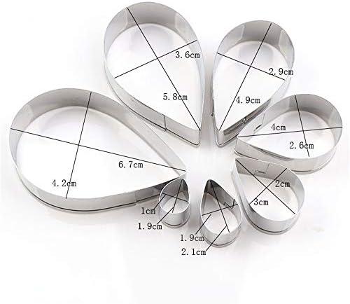 オースティン ローズ 陶器 と セラミック スツール ラウンド ポリマー 多形 フォンダン クレイ カッター 形状 シルバー