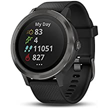 Garmin vívoactive 3, GPS Smartwatch Contactless Payments Built-in Sports Apps, Black/Gunmetal