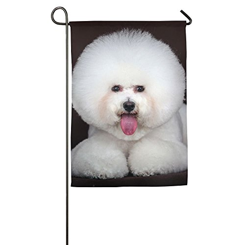 Bichon Frise Flag - Gladgrace Bichon Frise Garden Flag Indoor & Outdoor Decorative Flags For Parade Sports Game Family Party Wall Banner,12x18inch