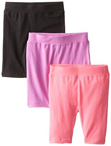 Dream Star Girls Solid Bike Shorts (Pack of 3)