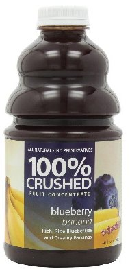 Dr. Smoothie 100% Crushed Fruit Smoothie, Blueberry Banana, 46-Ounce Bottles (Pack of -