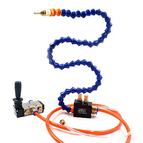 SHINA Mist Coolant Lubrication Spray System For Metal Cutting Cooling Milling Engraving Machine CNC Lathe Cooling Sprayer Machine(Manual Valve 800mm)