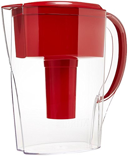 Brita Space Saver Water Filter Pitcher-Red-6 Cup