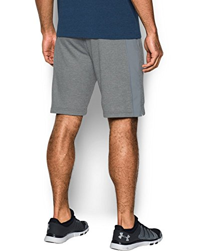 Under Armour Men's Tech Terry Shorts, True Gray Heather (025)/Silver, XXX-Large by Under Armour (Image #1)