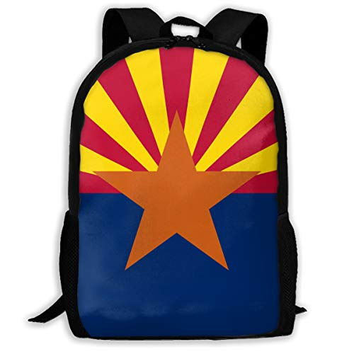 Arizona USA State Flag.png Travel Hiking Lightweight Mens Womens Unisex Computer Gaming Laptop Backpack,Boys Girls School Book Bag