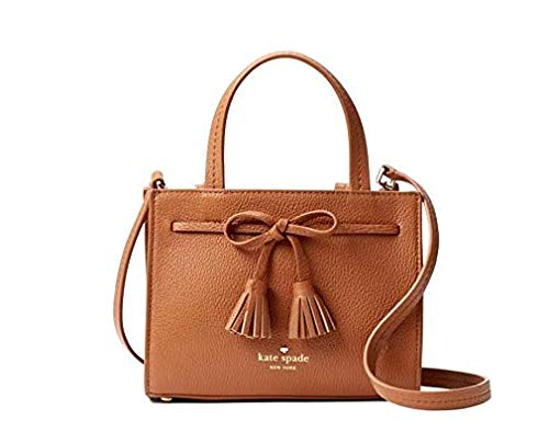Kate Spade Hayes Mini Leather Satchel Women's Handbag (Warm Gingerbread) ()