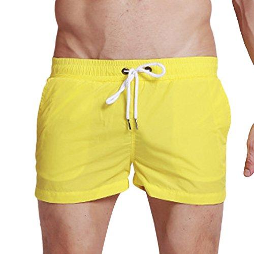 Rápido Natacion Moda Playa Pantalon Shorts Corto Lvguang Amarillo Ligero  Bañador Secado Hombre Bermuda 8wTO6O 75410e7b338f3