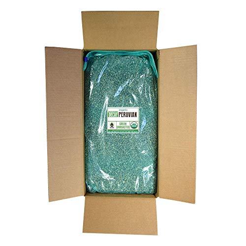 Fresh Roasted Coffee LLC, Green Unroasted Peruvian Decaffeinated Coffee Beans, Fair Trade, USDA Organic, Water Process, Bulk 25 Pound Bag