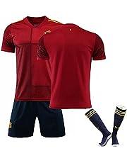 IFIKK Voetbalshirt voor heren, kinderen, voetbalshirt, voetbaltrainingshirt, voetbalfan-trui, jongens, voetbaluniform, basketbal, fan-tricot, kinderen, voetbalshirt, korte broek, sokken