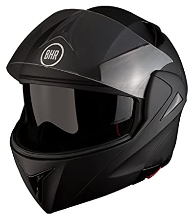 BHR 50128 Casco Modular, Color Negro Mate, Talla S, 55-56 cm: Amazon.es: Coche y moto