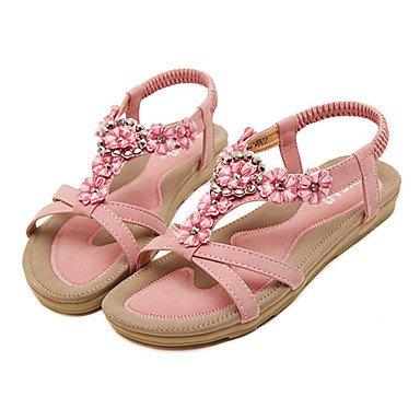 Pour Us8 Cn39 Dcontract cuir Nouveaut Bottes Mariage Fschooly Eu39 Rose Plat Et Chaussures Printemps Uk6 Femme Amande Sandales Simili Confort qxffOwHPBa