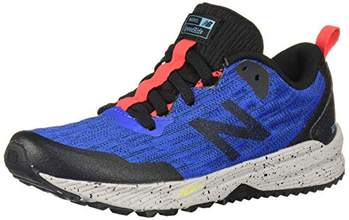 New Balance Boys' Nitrel V5 Running Shoe, Vivid Cobalt/Black, 4 M US Big Kid