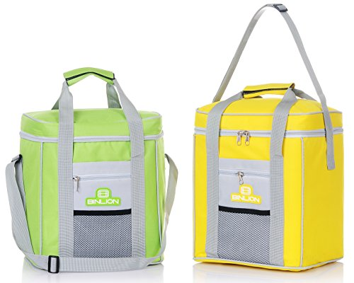 binlion-l28w22h28cm-cooler-bag-2pc-set-green-and-yellow-color