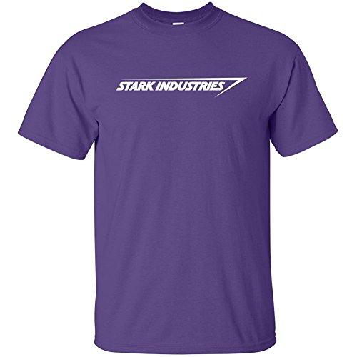 Stark Industries Iron Man T-Shirts - Purple - Large
