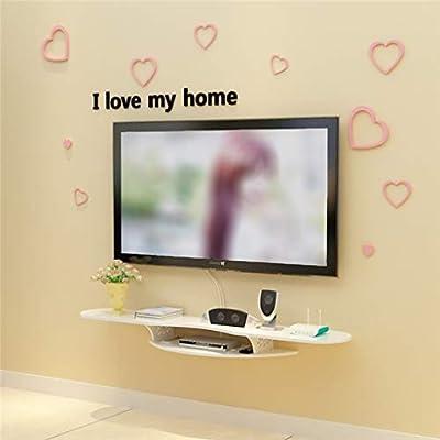 Estante de la pared flotante de TV Set Top Box DVD Proyector de matriz de audio-vídeo consola Estante de almacenamiento de montaje en pared Soportes Televisión multifuncional Gabinete de pared de TV