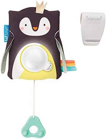 Taf Toys Prince The Penguin Baby Soother with Sound Sensor Activation, White Noise and Soothing Sounds Along with Playful Music and Light for Newborns. No More Sleepless Nights and Sleep Deprivation.