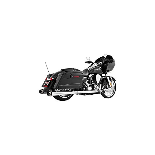 FREEDOM OUTLAW SLIP CHR/BLK TIP W/STK HDRS BAGGER 82-00262 by MOTO HEAVEN